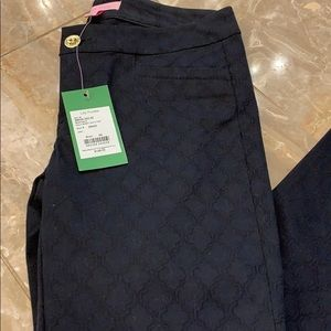 NWT Lilly Pulitzer Onyx Kelly Skinny Ankle Pant